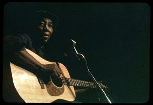 Thumbnail of Mississippi John Hurt: in concert, playing guitar
