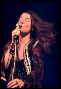 Thumbnail of Janis Joplin, performing at Woodstock