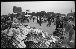 Thumbnail of ' It's your choice, not others': huge pile of signs for NARAL: 2004 March for Women's Lives