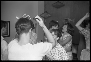Thumbnail of Teenage long hair: boys combing their hair while dancing with girls