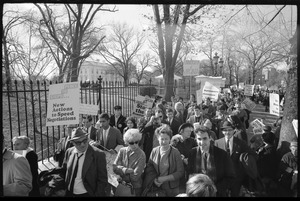 Thumbnail of Protesters outside the White House marching against the war in Vietnam: Washington Vietnam March for Peace