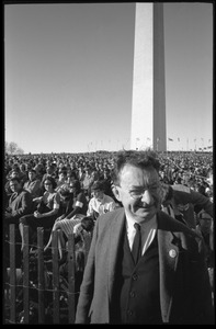 Thumbnail of Unidentified man in the press area: Washington Vietnam March for Peace