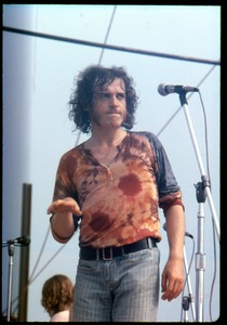 Thumbnail of Joe Cocker performing on stage at the Woodstock Festival