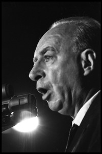 Thumbnail of Hans J. Morgenthau speaking against the war at the National Teach-in on the Vietnam         War