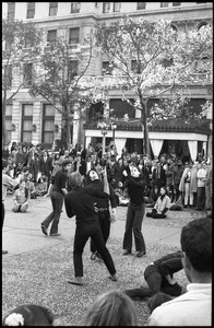 Thumbnail of Street theater at the Vietnam Moratorium in New York: mimes in a gun fight