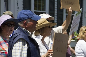 Thumbnail of Pro-immigration rally in front of the Chatham town offices: taken at the 'Families Belong Together'             protest against the Trump administration's immigration policies