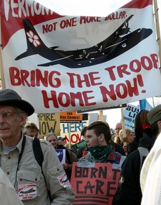 Thumbnail of Protesters on the National Mall, marching against the War in Iraq
