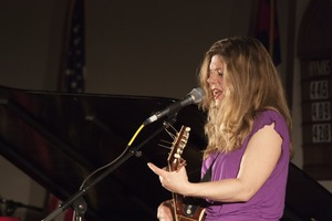 Thumbnail of Dar Williams, performing at the First Congregational Church in             Wellfleet