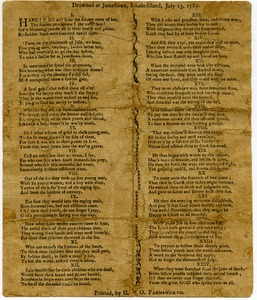 Thumbnail of Verses made on the sudden death of six young women and one boy, who were drowned at Jamestown, Rhode-Island, July 13, 1782