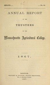Thumbnail of Annual report of the Trustees of the Massachusetts Agricultural College