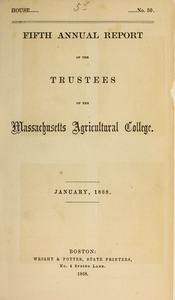 Thumbnail of Fifth annual report of the Trustees of the Massachusetts Agricultural College