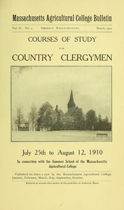 Thumbnail of Courses of study for country clergymen, July 25th to August 12, 1910 M.A.C. Bulletin vol. 2, no. 3