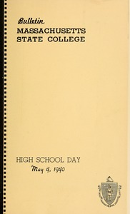 Thumbnail of Program High School day, May 2, 1942 Bulletin Massachusetts State College 38, no. 3