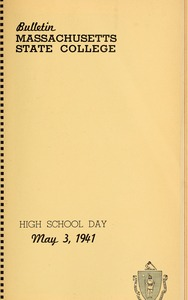 Thumbnail of Program High School day, May 3, 1941 Bulletin Massachusetts State College 33, no. 4