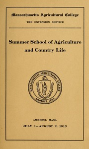 Thumbnail of Summer School of Agriculture and Country Life nad School for Rural Social             Workers M.A.C. Bulletin vol. 5, no. 3