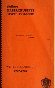 Thumbnail of Winter courses 1941-1942 Bulletin Massachusetts State College 33, no. 7
