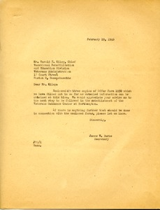 Thumbnail of Letter from James W. Burke to Harold E. Kiley