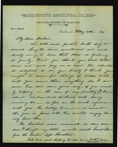 Thumbnail of Letter from William Penn Brooks to Rebecca Brooks