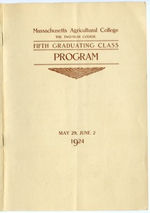 Thumbnail of Fifth graduating class: Program