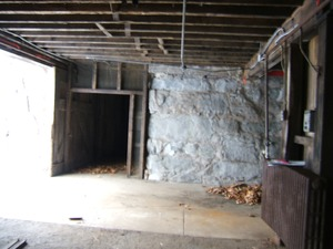 Thumbnail of Interior view of entryway into the barn Basement of the Cow Barn: Brooks Barn Complex, UMass Amherst
