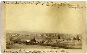 Thumbnail of This is the 'most beautiful spot I have ever sen,' --Stonewall Jackson, Round             Hill, Northampton, Mass. 1860' Campus of the Massachusetts Agricultural College