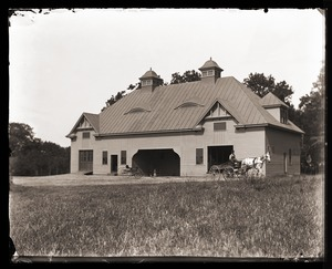 Thumbnail of Horse barn, Massachusetts Agricultural College             farm