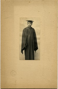 Thumbnail of William Lane Hood: studio portrait in academic gown