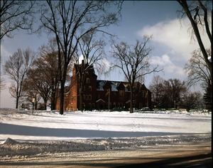 Thumbnail of South College in snow