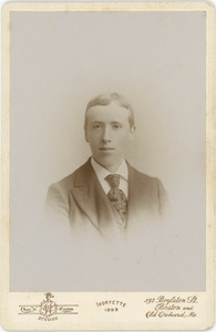 Thumbnail of Maurice Elmer Cook: studio portrait, Massachusetts Agricultural College
