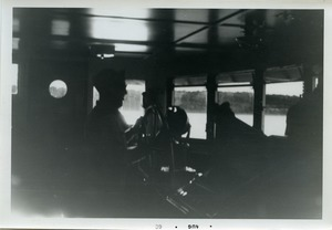 Thumbnail of Helm of boat to Martha's Vineyard