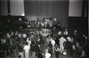 Thumbnail of Dance with The Maze, Student Union ballroom Band performing on stage with dancers in front