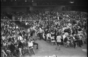 Thumbnail of Sell-out crowd at Wilson Pickett-Stevie Wonder concert at Curry Hicks Cage