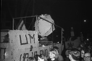 Thumbnail of Homecoming Parade (versus the University of Rhode Island) U.M. float