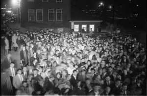 Thumbnail of Homecoming concert audience, Curry Hicks Cage Crowd waiting to get in