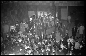 Thumbnail of Protest against Dow Chemical Co. and the war in Vietnam at the Student Union, UMass Amherst View of the crowd