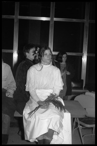 Thumbnail of Protest against Dow Chemical Co. and the war in Vietnam at the Student Union, UMass Amherst Nikki Kenyon participates in [the] protest