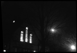 Thumbnail of Old Chapel at night, UMass Amherst