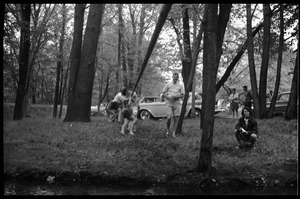 Thumbnail of JFK Lower (UMass Amherst dormitory) picnic at Look Park Students engaged in tug of war
