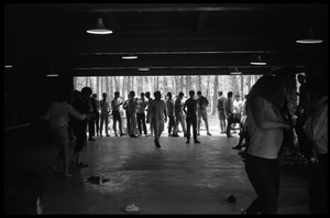 Thumbnail of JFK Lower (UMass Amherst dormitory) picnic at Look Park Students dancing at the Pavilion