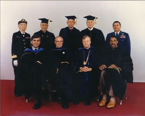 Thumbnail of David C. Knapp, Joseph D. Duffey, Michael S. Dukakis, Grace M. Hopper, Julius             Erving, Au Wang, Sidney Kaplan, Thomas P. Costin, Jr., and Andrew Iosue