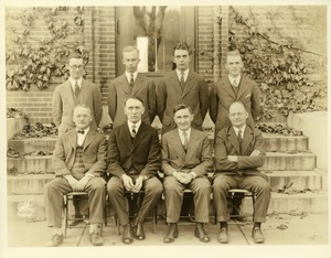Thumbnail of Edward M. Lewis, William L. Machmer, Victor A. Rice, Emerson Greenaway, F. Warren, Don Williams, Preston             Davenport, and Harold M. Gore