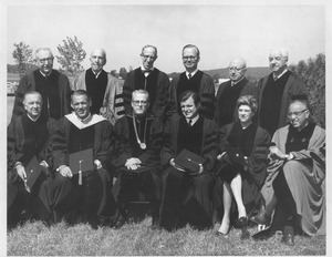 Thumbnail of John W. Lederle with honorary degree recipients