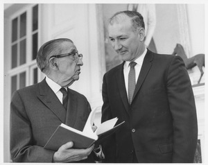 Thumbnail of Frank L. Boyden speaking with Benjamin Ricci