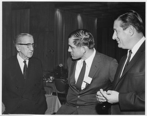 Thumbnail of Frank L. Boyden with William Saltonstall and John A. Volpe