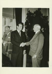 Thumbnail of John W. Haigis Sr. with Maurice J. Tobin