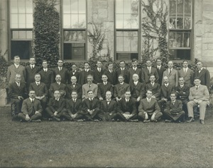 Thumbnail of Faculty members posing outdoors