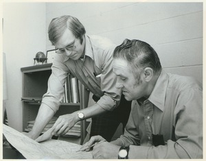 Thumbnail of Roy Rule and Joe Park reading a map