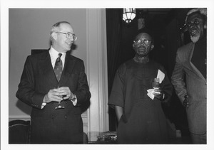 Thumbnail of Joseph Duffey with Chinua Achebe and Wilfred Cartey