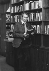 Thumbnail of Dwight W. Allen with books