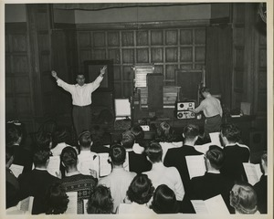 Thumbnail of Doric Alviani conducting a choir